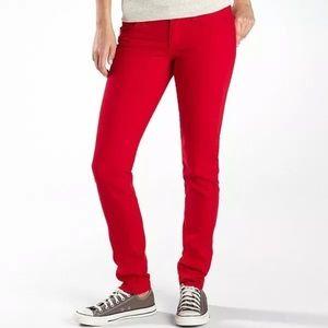 Red Arizona Jeans super skinny NWOT